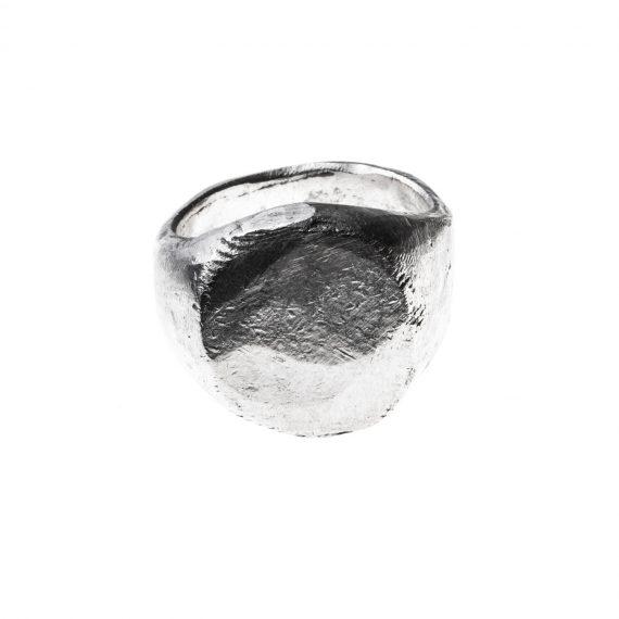 Anello chevalier ossi di seppia