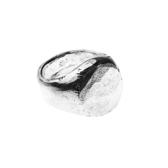 Anello chevalier uomo donna in argento