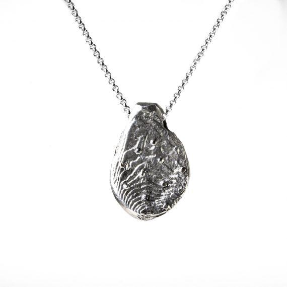 """Pendente in argento """"Tesoro di Matera"""" fuso in osso di seppia"""