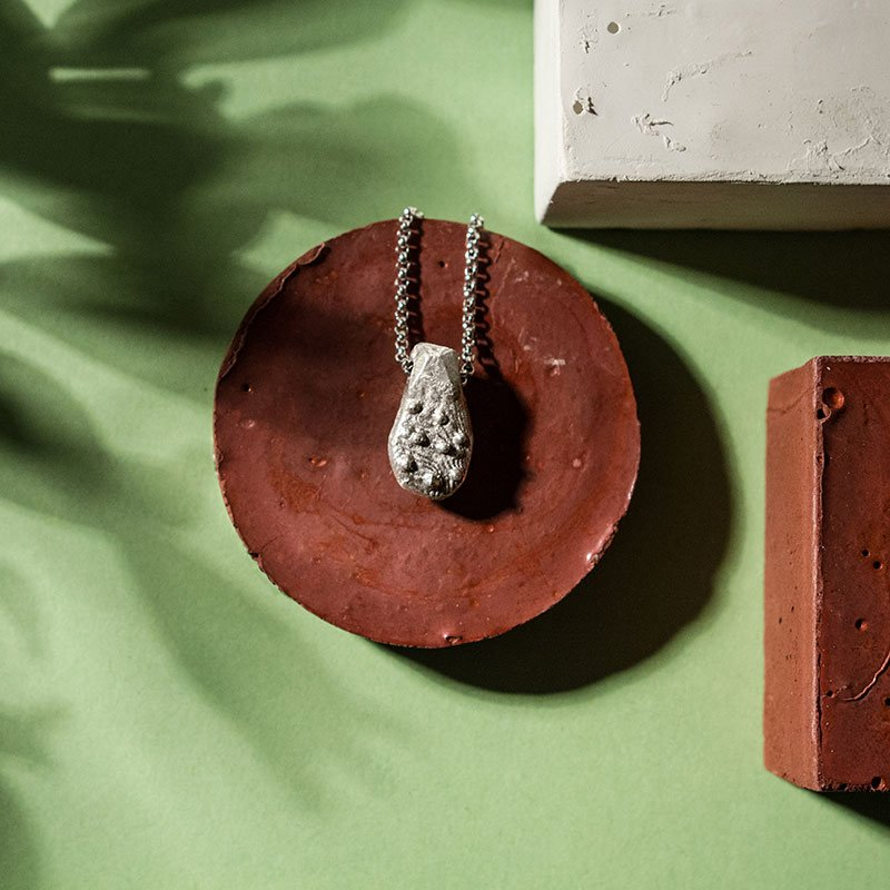 """Collana in argento """"Tesori di Positano"""" fusa in osso di seppia"""