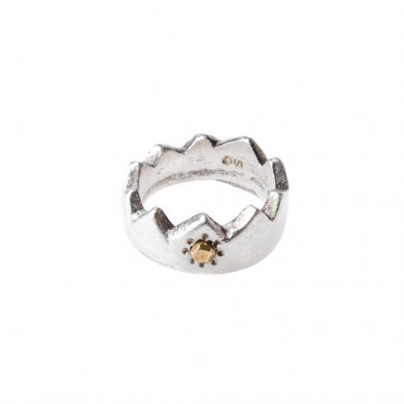 Anello corona San Marino Ossi di Seppia gioielli
